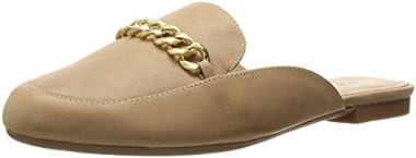 Adrienne Vittadini Footwear Women's Davey Moc Slide W/ Chain Mule