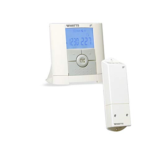 Watts Vision - Termostato programable con 1 receptor de superficie y regulador de termostato