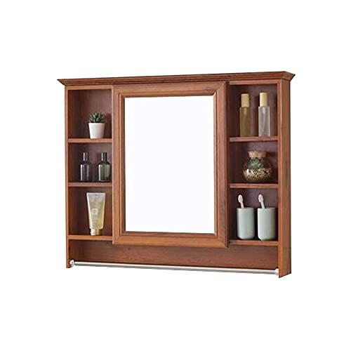 SHTFFW Mirador de Espejo de baño Caja de Espejo de Espejo Montado en Pared Estante de depósito de Pared Mueble de Pared Impermeable (sin incluir Otras Cosas)