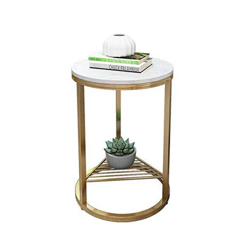 Hkwshop kleine bijzettafel salontafel creatieve marmer salontafel ijzer bank tafel metalen salontafel verscheidenheid aan stijlen beschikbaar geschikt voor woonkamer, slaapkamer, terras