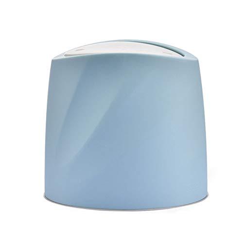 Cubo De Basura Clasificación, Bote De Basura Reciclaje Separación Seca Y Húmeda El Plastico Presione La Tapa Para Cocina, Baño, Sala (Azul)