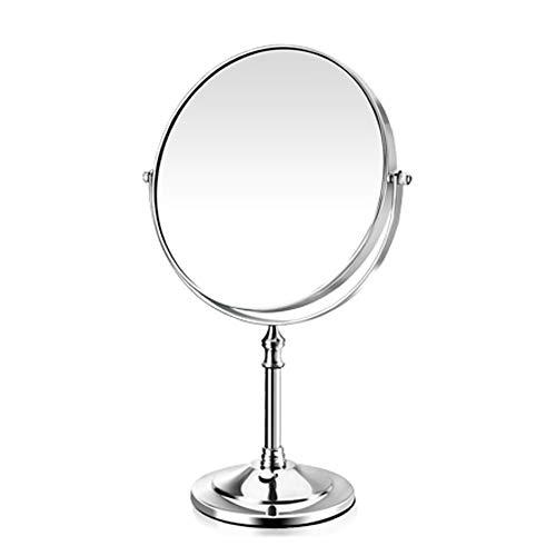 GYFHMY Industries - Specchio Doppio Lato da Trucco, ingrandimento 3X/1X, Rotazione a 360°, Specchio da Tavolo con ingrandimento a Due Lati, per Bagno, Cromato