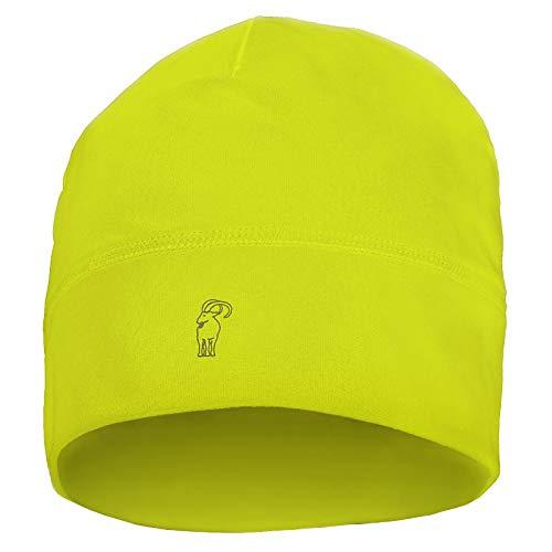 ALPIDEX Berretto Corsa Calcio Sportivo Bici Cappello Running Donna Uomo Skull cap, Colore:Neon Yellow