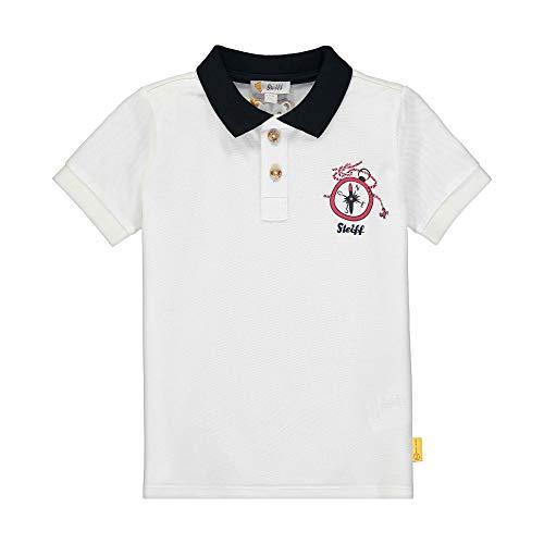 Steiff Jungen Poloshirt, Weiß, 122 (Herstellergröße:098)