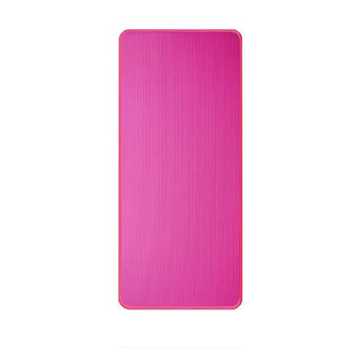 QPMY Esterilla de yoga, antideslizante con bordes para yoga, esterilla de fitness, alargada y ampliada, 10 mm, para principiantes, hombres y mujeres, varios tamaños, rosa, M