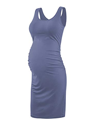 Peauty Baby Bump Sleeveless Dress, Maternity Bodycon Dress, Daily Wear & Baby Shower, Soft Breathable Dress
