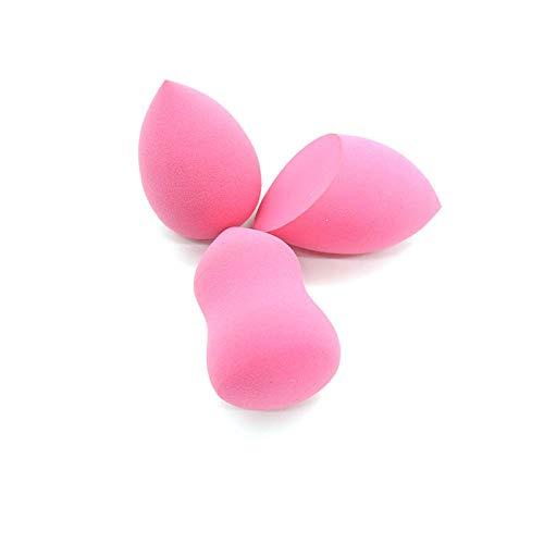 3pcs / pack maquillage beauté éponge fondation puff cosmétique lisse visage poudre de maquillage correcteur maquillage kits outil-rose