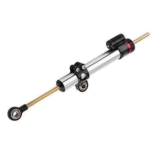 Qiilu Stabilizzatori e Ammortizzatori per moto, Stabilizzatore Ammortizzatore di Sterzo in Alluminio per Moto Universale(Sezione lunga)