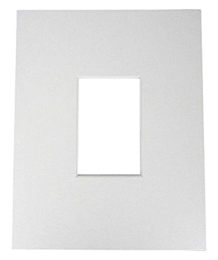 20 11x14 8-ply mat mattes WHITE for 5x7 Photo picture