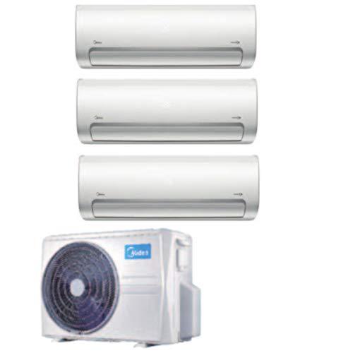 Climatizzatore MIDEA Trialsplit mod. M3OF21HFN8Q 21000BTU + MSMBAU-09HRFN8 9000BTU+MSMBAU-09HRFN8 9000BTU + MSMBBU-12HRFN8 12000BTU