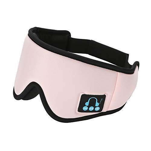Schlafmaske mit Geräuschunterdrückung, kabelloser Kopfhörer mit HD-Stereo-Sound (Pink)