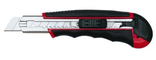 Wedo 78418 Cutter Autoload (18mm, inklusiv 6 Klingen im Magazin) rot/schwarz
