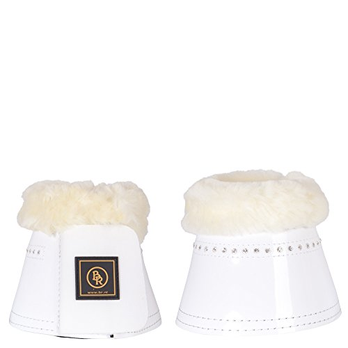 BR Springglocken Glamour Lacquer Sheepskin, Farbe:Weiss;Groesse:M