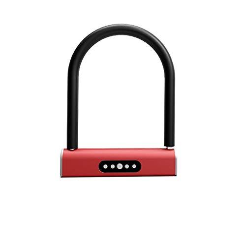 GangKun Intelligent Bluetooth-wachtwoord U-Lock, waterdichte app voor huis, motorfietsaccu, fiets, diefstalbeveiliging, glazen deurslot in U-vorm Azul Y Amarillo