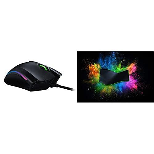 Razer Mamba Elite- Ratón para Juegos + Goliathus Extended Chromaalfombrilla para Juegos, Gaming Mouse Pad, Tamaño XXL, Superfície Suave con Iluminación RGB, Negro