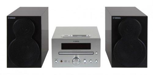 Yamaha Piano Craft E 330 Kompaktanlage (2x20W, Apple iPod Dock, USB, MP3) Silber/schwarz