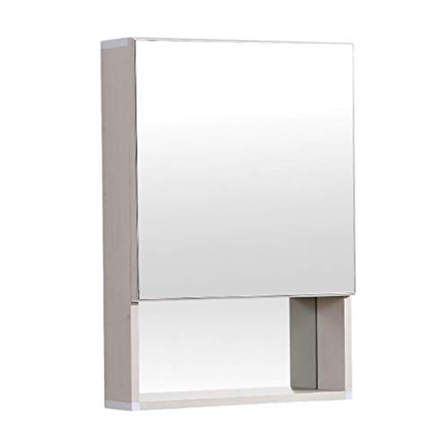 Armoire De Toilette Avec Porte Miroir Armoire Murale Miroir Salle De Bain Multifonction Avec Étagère (Color : Blanc, Size : 48 * 13 * 68cm)