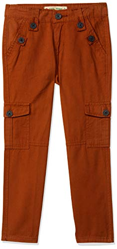 COOL TRIBE Boy's Chino Slim fit Trousers (BTRS-04_Rust_3-4Y)