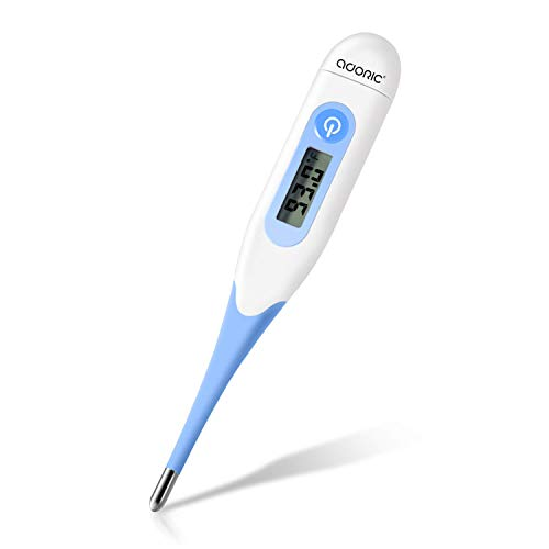 Adoric Digital Medical Thermometer Fast 10 Sec Instant Read Oral Rectal Axillary Armpit Underarm Body Temperature Clinical Detecting Fever in Infants Babies