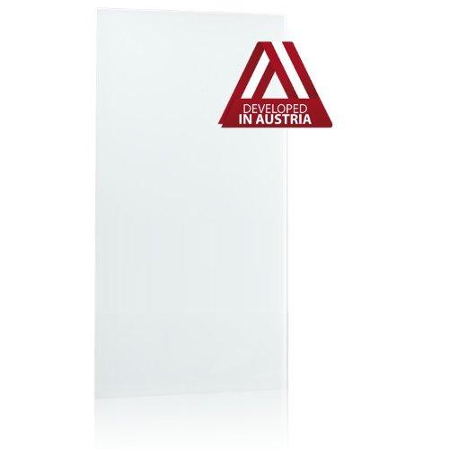 Infrarotheizung Glas rahmenlos, weiß, 800 Watt (120x60x2 cm)