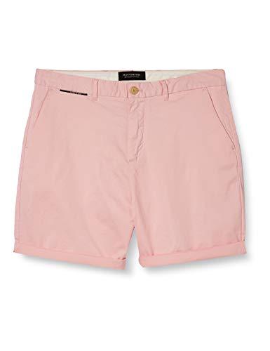 Scotch & Soda Herren Classic Chino pima Cotton Quality Shorts, Rosa (Faded Pink 0181), 32W