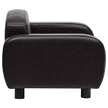 vidaXL Canapé pour Chien Noir 80x50x40 cm Similicuir Sofa pour Chat Animaux