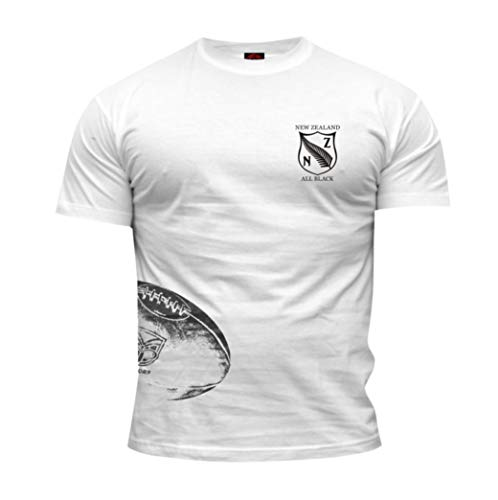 Dirty Ray Rugby New Zealand All Black Camiseta Hombre KRB3B (M)