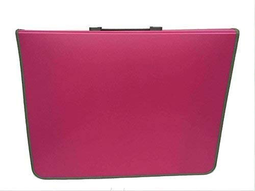 MeMyArt A2P-Pink A2 Portfolio Presentation Display Folder/Case/Bag - Pink/Blue/Grey