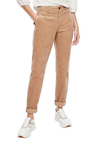 s.Oliver Damen Regular Fit: Hose aus Feincord Camel 42.32