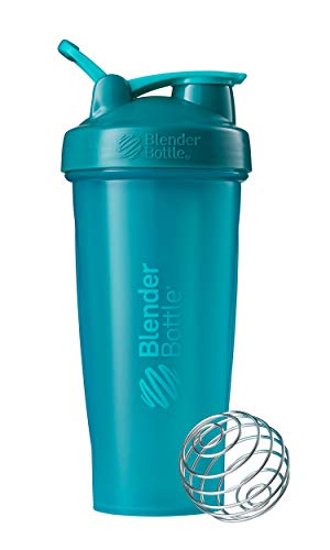 BlenderBottle Classic Shaker Bottle Perfect for Protein Shakes and Pre Workout, 28-Ounce, Teal