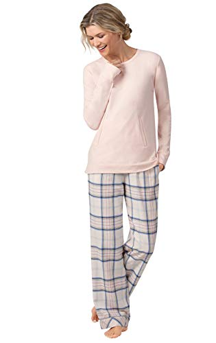 Addison Meadow Flanell-Pyjama für Damen – Pyjama-Sets, Pastell-Flanell - Pink - Medium