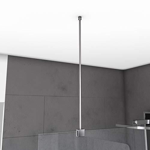 Aurlane Barre de Fixation Plafond pour Douche a l'italienne - Barre DE Fixation Plafond 60cm RECOUPABLE