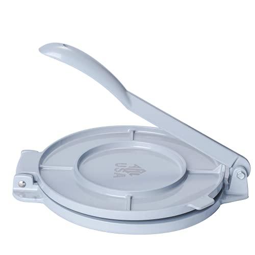 ARC, AL205S Tortilla-Press-Marker, Aluminiumguss, haltbare Tortilla-Presse, schnell und einfach, leckere Tortillas für jedes Rezept zu machen, buntes und leichtes Design (20,3 cm, grau)