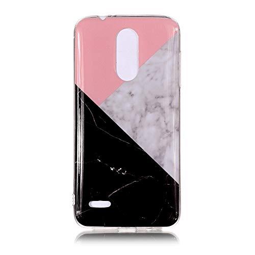 Yhuisen Handy-Taschen und Handy-Hüllen, LG K8 2018 Fall, Marmor Stein Muster weichen TPU zurück Shell Fall für LG K8 2018 (Farbe : 1)