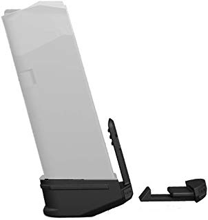 Recover Tactical MC43 Magazine Clip Base Set, Glock 43 with Finger Extension, Black