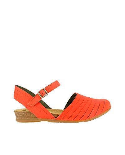 El Naturalista / Modèle : N5201 Stella / Couleur : Pleasent Coral Rouge cuir / Ballerines pour femme - Rose - corail, 40 EU
