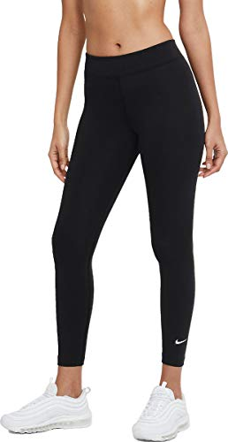 Nike W NSW ESSNTL LGGNG 7/8 LBR MR Leggings, Black/(White), S Donna