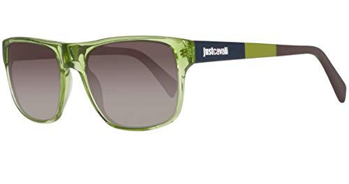 Just Cavalli Sonnenbrille JC743S 5793B Gafas de sol, Verde (Grün), 57 Unisex Adulto