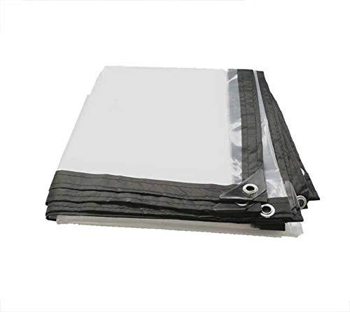 MMADD Transparent PVC Tissu Solaire, bâche de Pare-Brise, Tissu, bâche, bâche de Ferme, Tissu Isolant en Plastique, Bord épaissi perforé bâche Transparente, Camping bâche imperméable à l'eau,3m×6m