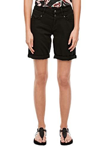 Q/S designed by - s.Oliver Damen Regular Fit: Coloured Denim-Bermuda Black 36