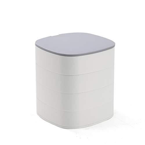 TMXXSY Caja de Almacenamiento de Escritorio Joyero Creativo Multicapa con Tapa y Espejo Caja de Almacenamiento a Prueba de Polvo Joyero pequeño