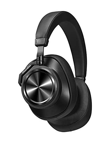 Audífonos Bluetooth Bluedio T7 2019 con cancelación activa de ruido, estéreo Hi-Fi de 57 mm y 30 horas de reproducción, auriculares inalámbricos con micrófono para PC/Cellphone/TV/viajes/trabajo