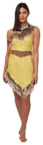 Rubie's Offizielles Damen-Disney Pocahontas-Kostüm für Erwachsene, Gr. S