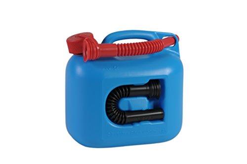 ヒューナースドルフ Hunersdorff 燃料タンク [ 安心の正規品 保証付 ]ポリタンク フューエルカンプレミアム 5L ウォータータンク 燃料 ホワイトガソリン 灯油 タンク キャニスター キャンプ (ブルー)