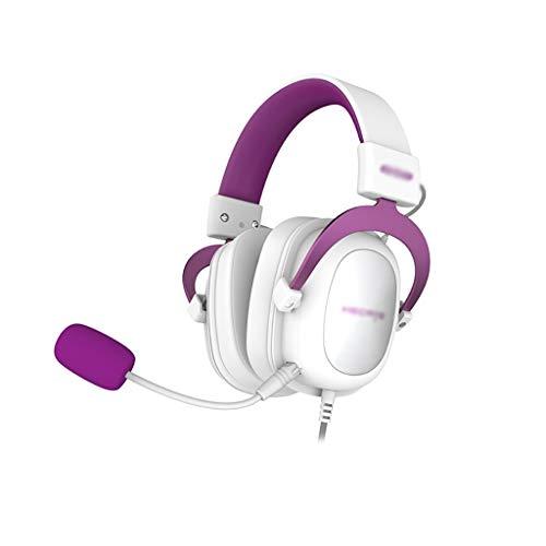 ZZL Auriculares de Juegos con 7.1 Sonido Envolvente y Micrófono Desmontable Memoria Suave para Orejeras Compatibles con PC PS4 Laptop Xbox (Color : Orange)