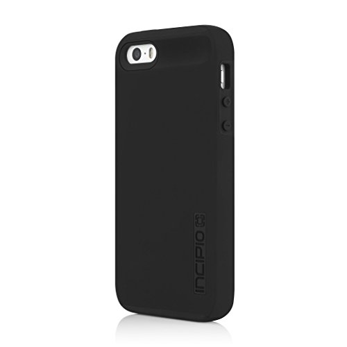 iPhone SE 5S 5 Case, Incipio iPhone SE 5S 5 Case DualPro Shockproof Hard Shell Hybrid Rugged Dual Layer Protective Outer Shell Shock and Impact Absorption Cover - Black