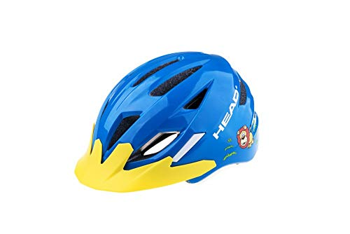 Head fietshelm Kid Y11A out-mould, unisex kinderen, geel, small