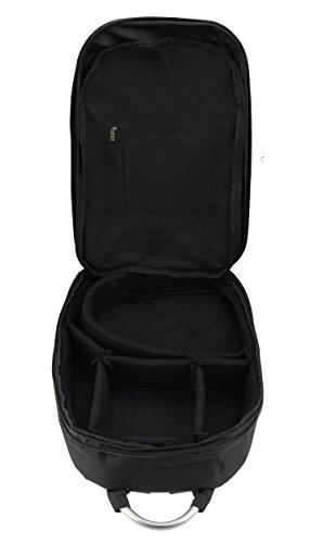 Navitech Tragbarer mobiler DJ Controller Hart Rucksack Tasche Schutz hülle für den Akai AMX 2-Channel Serato