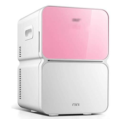 LQQ Tragbare Gefriertruhe Kompakter Dual-Use Kühlschrank für Haus und Auto 22L Großer Kühlschrank Mit Seitlichem Griff Mini Kühler Wärmer Kühlbox 11,2 X 13,9 X 16,5 Zoll (Farbe : Rosa)