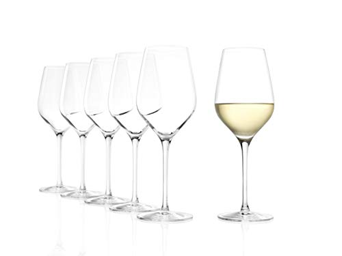 Stölzle Lausitz Exquisit Royal - Juego de copas de vino blanco (420 ml, 6 unidades, aptas para lavavajillas)